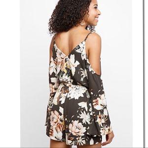 b63010330b5c Pants - Off Shoulder Long Sleeve Floral Romper